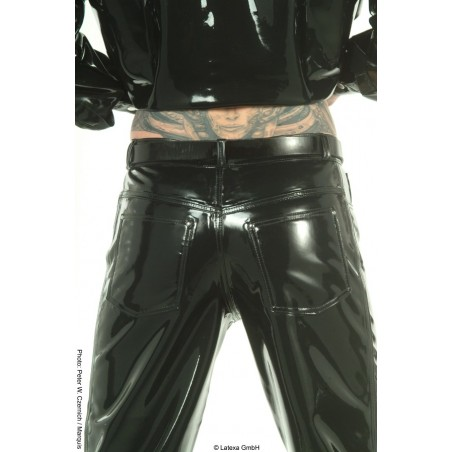 Jean latex taille basse